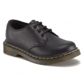 Colby Infant Shoe Black, lace up leather shoe