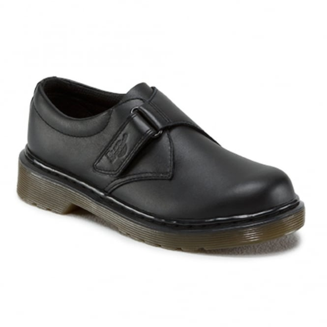 Dr Martens Kids Jerry Black, easy on school shoe
