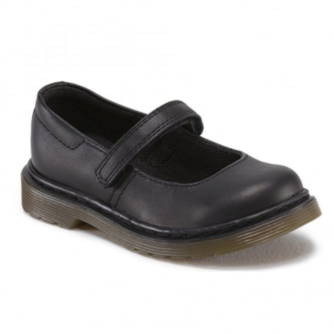 Dr Martens Kids Tully Plain Black, Mary Jane shoool shoe