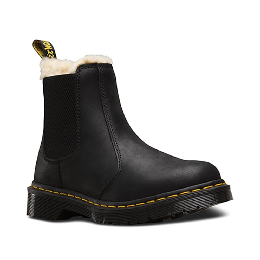 Dr Martens Leonore Chelsea Boot Black, slip on leather chelsea ...