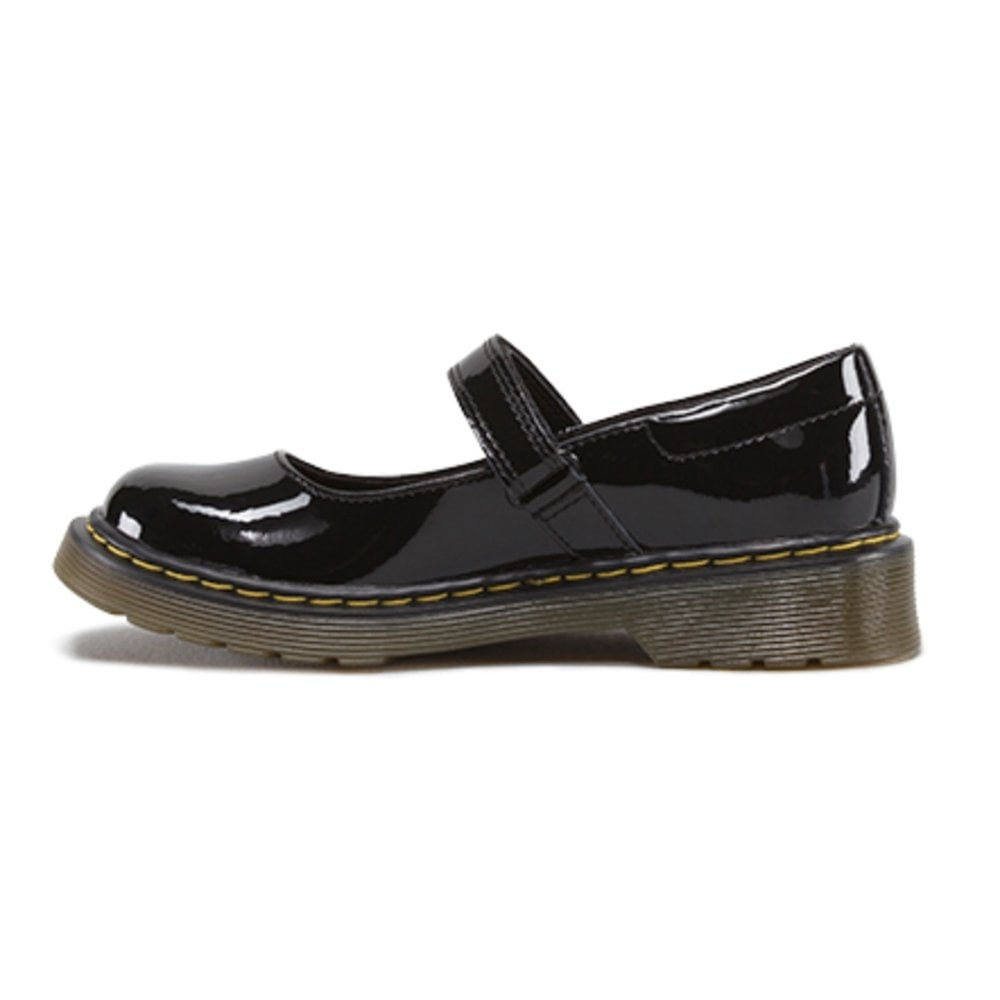 adb611bc Maccy Patent Junior School MJ Patent Black, patent mary jane school shoe