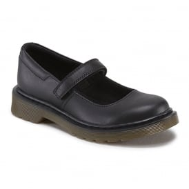 Maccy Softy Youth Black, Mary jane style school shoe