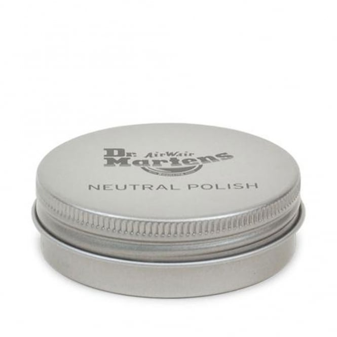 Dr Martens Neutral Polish, solid wax paste formula which nourishes leather to keep it soft and supple