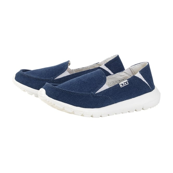 Dude AVA Sea Blue, canvas slip on