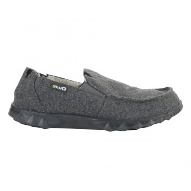 Dude Farty Chalet Felt Grey, the classic Farty but with a faux fur lining and a flet outer