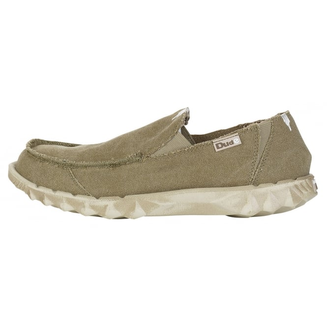 Dude Farty Chestnut, Canvas slip on