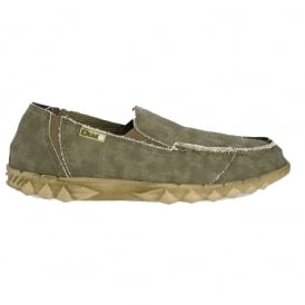 Farty Classic Sage, canvas slip on mule