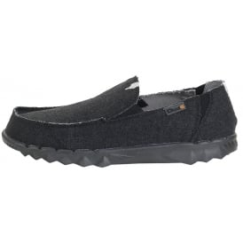 Dude Farty Jet Black, Canvas slip on