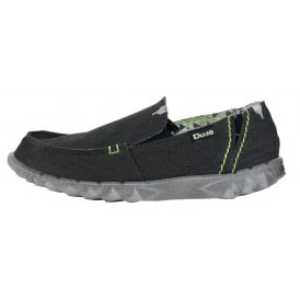Farty Stretch Black, canvas slip on mule with extra added stretch