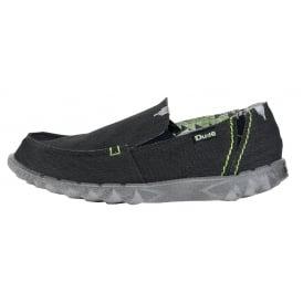 Dude Shoes Men S Farty Stretch Black Slip On Mule