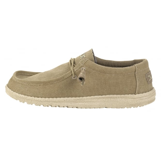 Dude Mens Wally Classic Chestnut, the slip on shoe with an elastic system