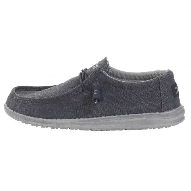 Dude Mens Wally Classic Oceano, the slip on shoe with an elastic system