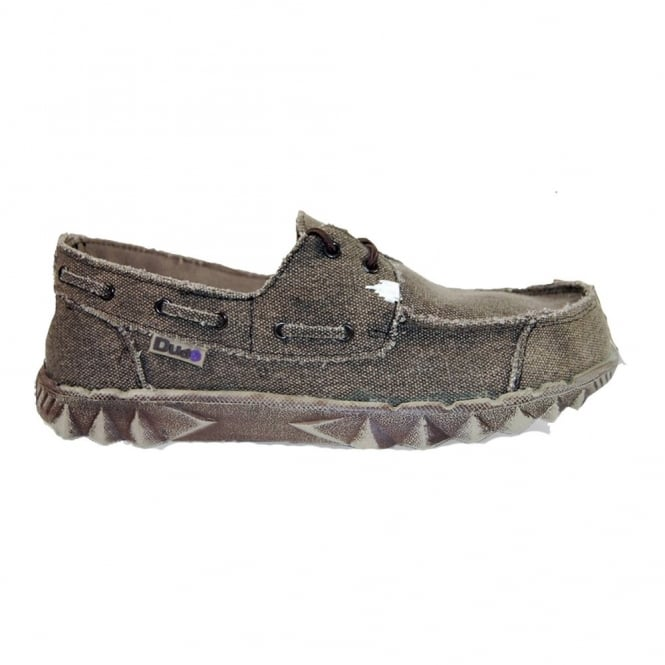 Dude Puchi Canvas Chocolate, Deck style lightweight shoe