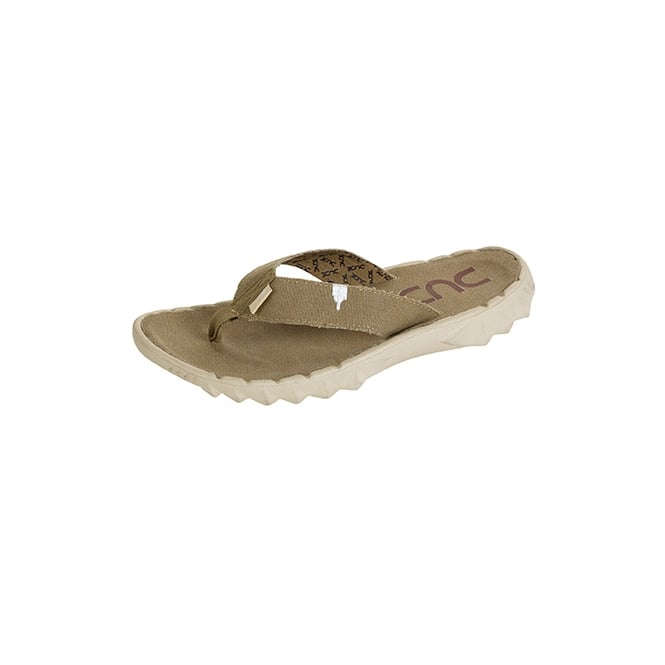 Dude Sava Flip Flop Chestnut, Canvas top flip