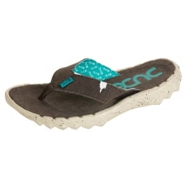 Dude Sava Funk Flip Flop Wenge, Canvas top flip
