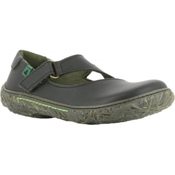 El Naturalista E751 Nido Youth/Adult Black, leather flat