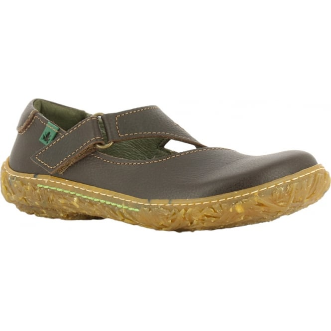 El Naturalista E751 Nido Youth/Adult Brown Leather Flat