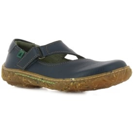 E751 Nido Youth/Adult Ocean Leather Flat