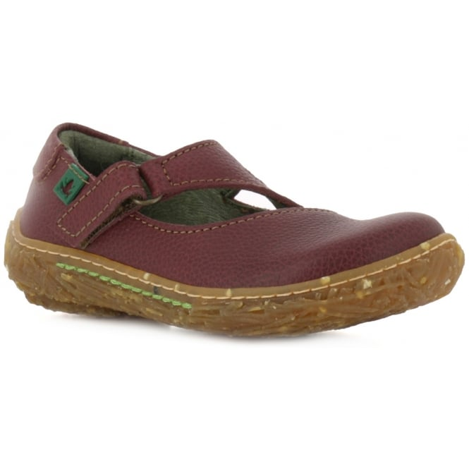 El Naturalista E751 Nido Youth/Adult Rioja Leather Flat