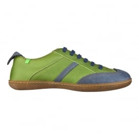 N273 El Viajero Lace-up Sneaker, Green Vaquero