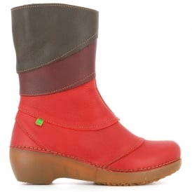 NC47 Tricot Tibet/Rioja/Brown, multicoloured leather zip up boot