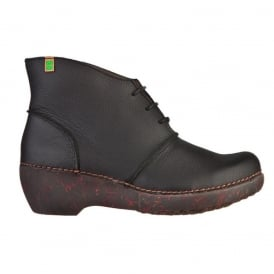 NC75 Boot Black, ankle boot with a wedge