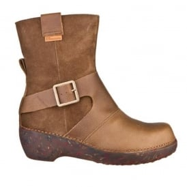 El Naturalista NC77 Boot Tricot Kaki, Smart boot with buckle detail