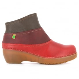 NC79 Tricot Tibet/Rioja/Brown, multicoloured leather ankle boot