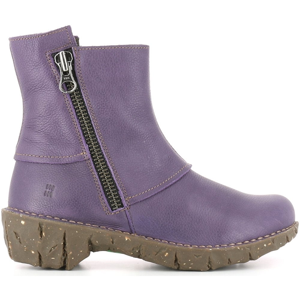 el naturalista ne28 yggdrasil purple leather zip up ankle boot women from jelly egg uk. Black Bedroom Furniture Sets. Home Design Ideas