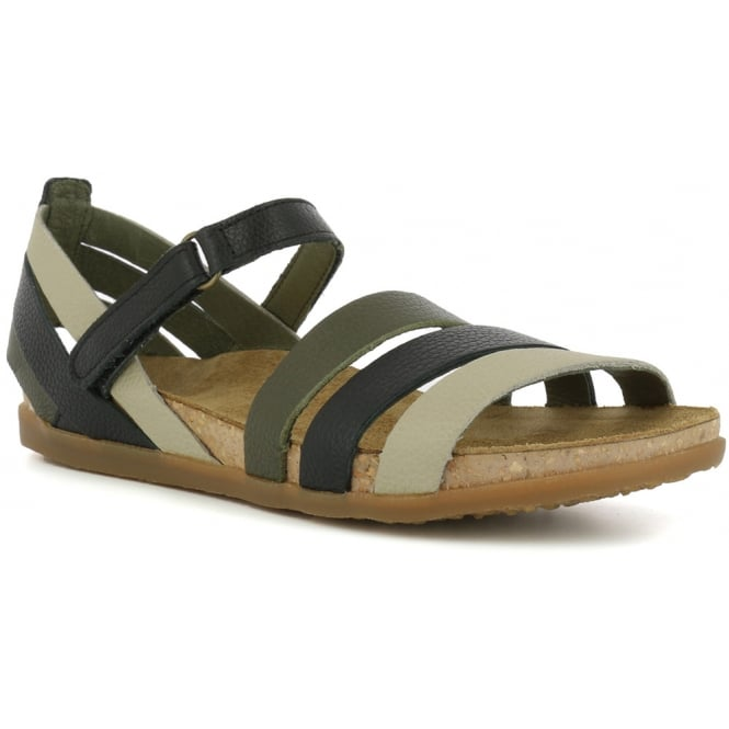 El Naturalista NF42 Sandal Zumaia Black, Soft Leather sandal