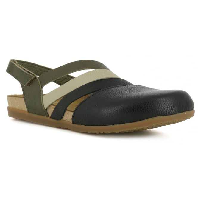 El Naturalista NF45 Shoe Zumaia Black, Soft leather & ajustable back strap