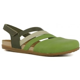 NF45 Shoe Zumaia Green, Soft leather & ajustable back strap