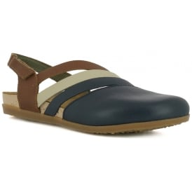NF45 Shoe Zumaia Ocean, Soft leather & ajustable back strap