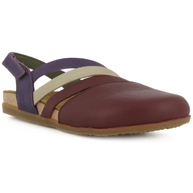 El Naturalista NF45 Shoe Zumaia Rioja, Soft leather & ajustable back strap