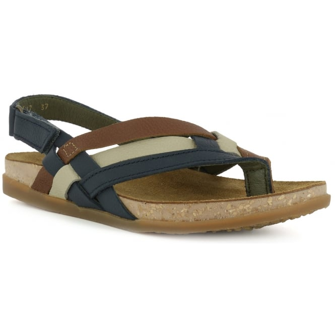 El Naturalista NF47 Zumaia Sandal Ocean, Leather Toe post sandal