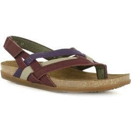 NF47 Zumaia Sandal Rioja, Leather Toe post sandal