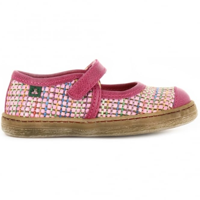 El Naturalista Youth E049 Kepina Magenta, leather flat for fun and comfort