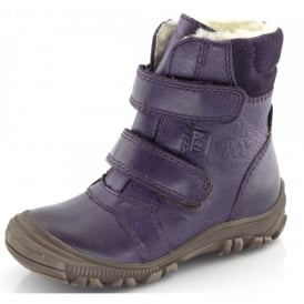 Junior Ankle Boot G3110057-5 Purple, waterproof velcro ankle boot