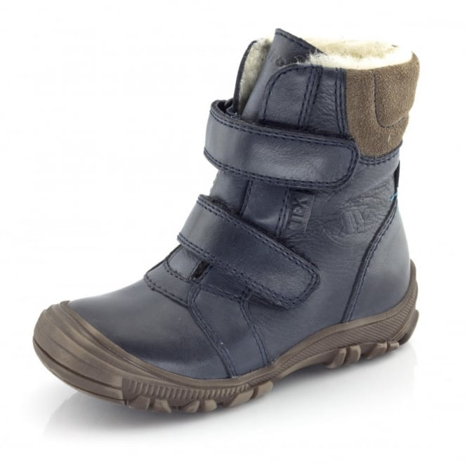 Froddo Junior Ankle Boot G3110057 Navy, waterproof velcro ankle boot