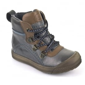 Lace Up Boot Junior WP G3110068-2 Grey, 100% Waterproof