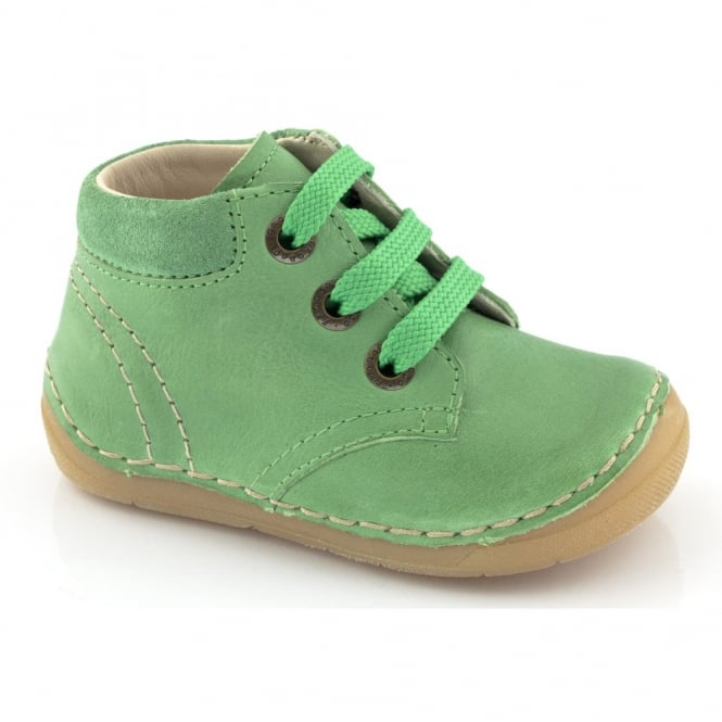 Froddo Mini Lace up boot G2130053-2 Green, Soft Leather Toddler Shoe