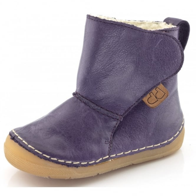 Froddo Minis Ankle Boot G2160020-3 Purple, wooly lined ankle boot