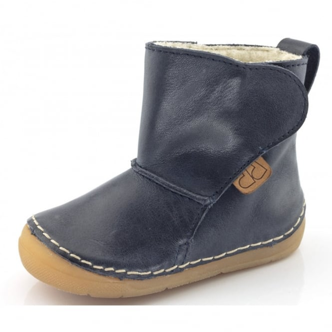 Froddo Minis Ankle Boot G2160020-4 Navy, wooly lined ankle boot