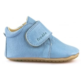 Pre Walkers G1130005-3 Light Blue, delicate little shoes with flexible soles & soft leather