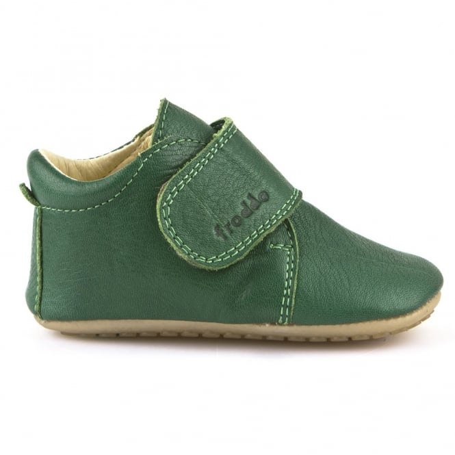 Froddo Pre Walkers G1130005-7 Green, delicate little shoes with flexible soles & soft leather
