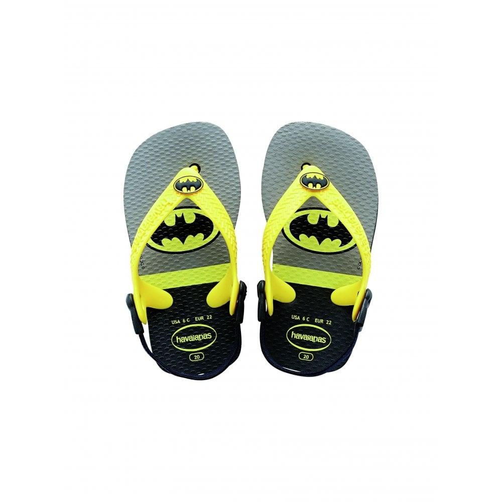 3046efd397 Baby Heroes Batman Black, the original flip flop with elastic back strap -  Kids from Jellyegg UK