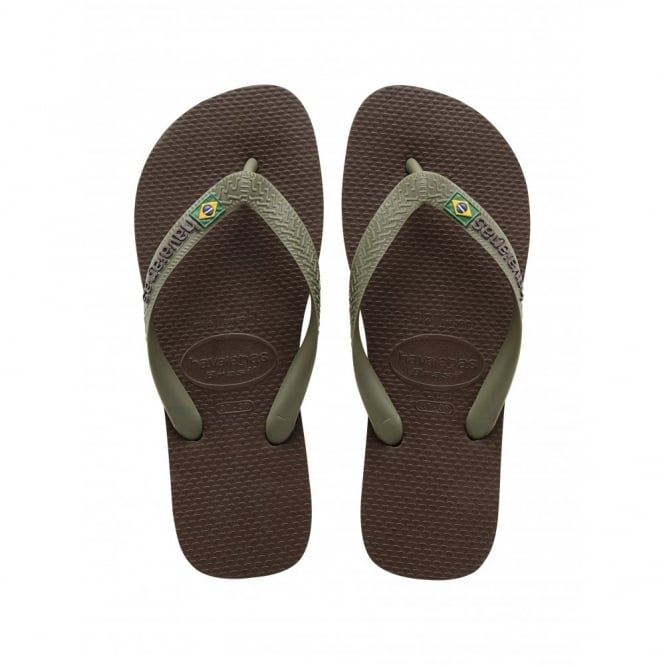 Havaianas Brasil Logo Dark Brown/Dark Brown, the original flip flop