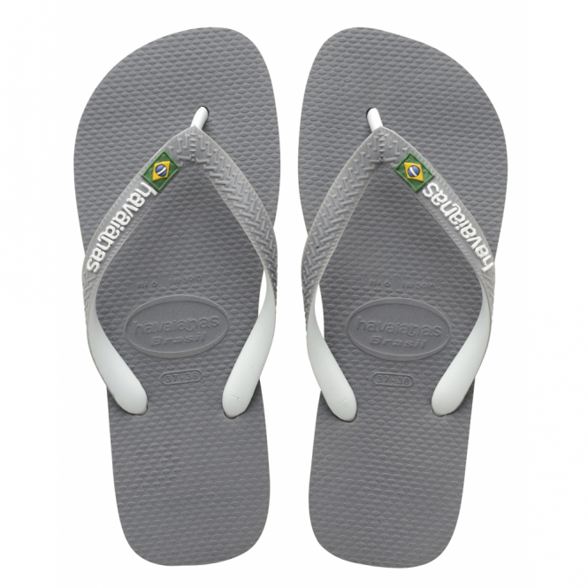 Havaianas Brasil Logo Mix Steel Grey/White, the original flip flop