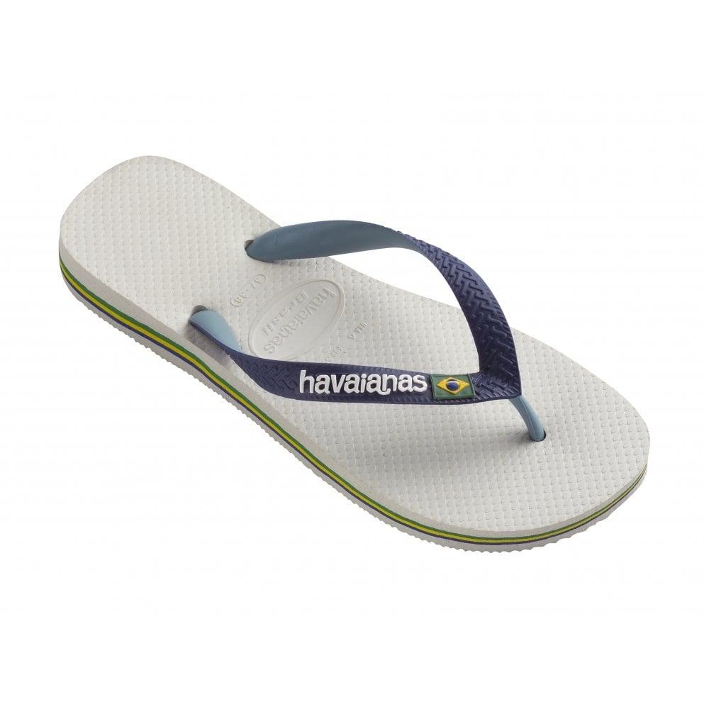 Brasil Logo Flip Flops In White - White Havaianas fnmjsI