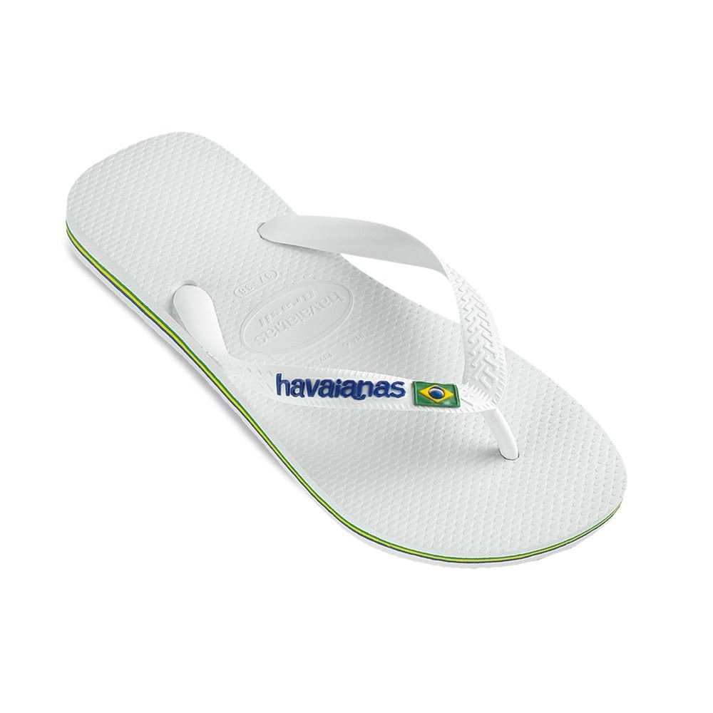Brasil Logo White, the original flip flop